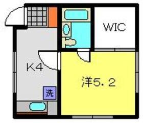 エノデ6メゾン2階Fの間取り画像