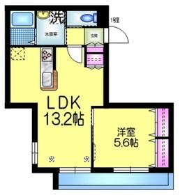 フラッツ タケノツカ2階Fの間取り画像