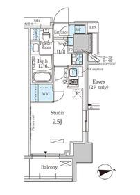 パークアクシス赤塚13階Fの間取り画像