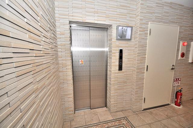 アマービレ森之宮 嬉しい事にエレベーターがあります。重い荷物を持っていても安心