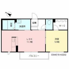 サリーレ新屋敷2階Fの間取り画像