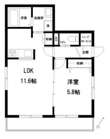 メゾン上り屋敷Ⅱ1階Fの間取り画像