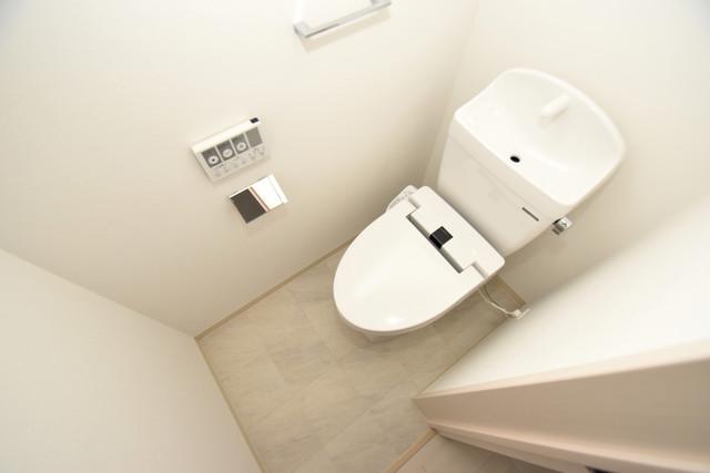 NEXT ONE 白くてピカピカのトイレですね。癒しの空間になりそう。