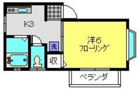 コーポサザンクロス2階Fの間取り画像