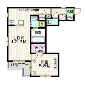ラ メイユール ペット共生2階Fの間取り画像