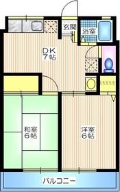 シティハイム コーポアベ1階Fの間取り画像