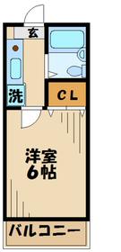 メゾンT&K1階Fの間取り画像