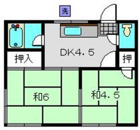 グリーンハイム2階Fの間取り画像