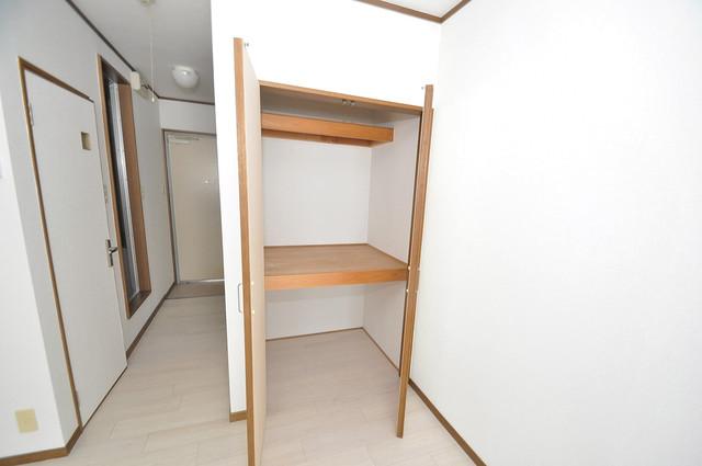 リーゾタナカ もちろん収納スペースも確保。お部屋がスッキリ片付きますね。