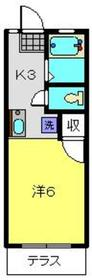 岩崎ハイツ2階Fの間取り画像
