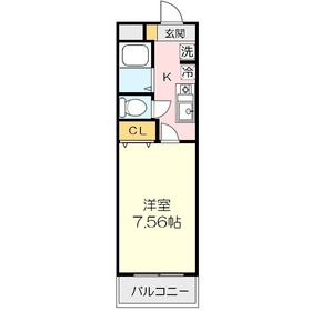 JC SOUTH SHIKI 29321階Fの間取り画像