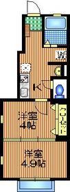 下北沢テラス1階Fの間取り画像