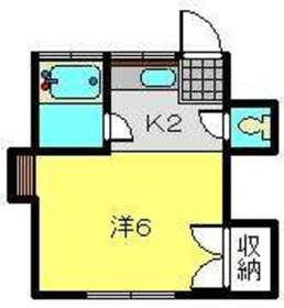 ハイツウエーク2階Fの間取り画像