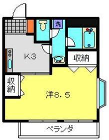 YSフラッツ4階Fの間取り画像