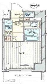 ルーブル川崎弐番館11階Fの間取り画像