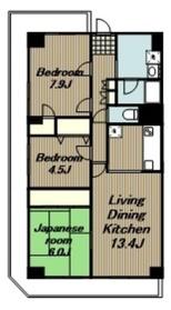 ユニハイム本厚木3階Fの間取り画像