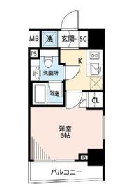 プレール・ドゥーク横濱紅葉坂7階Fの間取り画像
