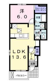 グリシーヌヒルA1階Fの間取り画像