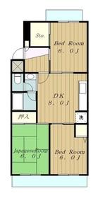 センチュリーハイツ町田3号棟3階Fの間取り画像