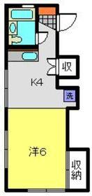 アザレ大倉山1階Fの間取り画像