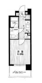スパシエカステール横浜吉野町7階Fの間取り画像