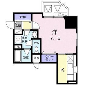 ロジュマン ベル8階Fの間取り画像