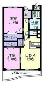 セレーノカーサⅠ3階Fの間取り画像