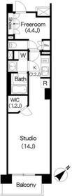 アパートメンツ三軒茶屋 アイビーテラス3階Fの間取り画像