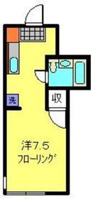 メゾン日吉2階Fの間取り画像