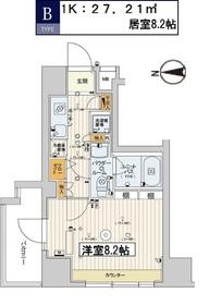 スカイコート江東住吉3階Fの間取り画像