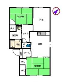 エントピア上野1階Fの間取り画像