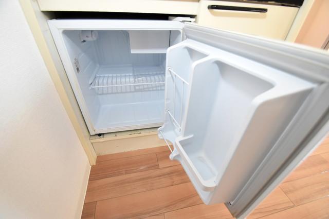 ゴッドフィールドⅢ ミニ冷蔵庫付いてます。単身の方には十分な大きさです。