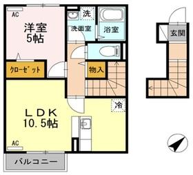 ウィット オザキ2階Fの間取り画像