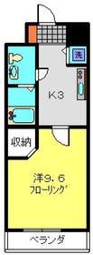 アルカサーノ新杉田1階Fの間取り画像