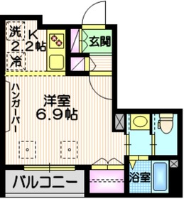 Tiida武蔵小山2階Fの間取り画像