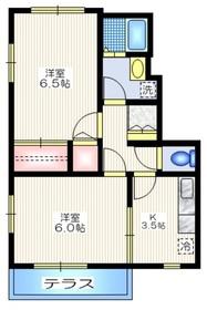 メゾンY1階Fの間取り画像