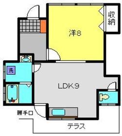 ヒルズM1階Fの間取り画像