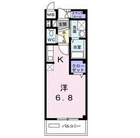 東村山駅 バス23分「東大和市」徒歩2分2階Fの間取り画像
