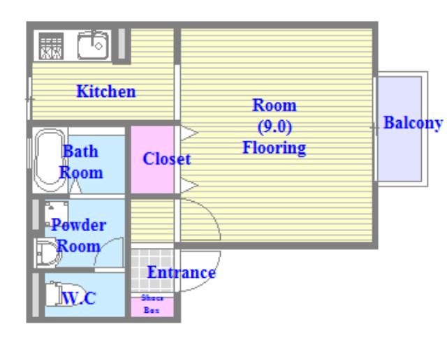 サンハイツ横沼 バストイレがセパレート、独立洗面所のある使い易い間取りです。