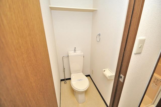 リップル布施イースト 清潔感のある爽やかなトイレ。誰もがリラックスできる空間です。