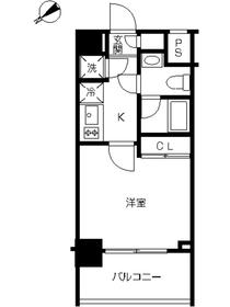 スカイコート池袋西壱番館13階Fの間取り画像