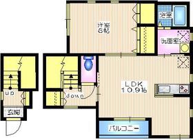 クレストIWAI2階Fの間取り画像