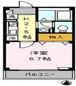 アトリオ トモ 弐番館2階Fの間取り画像