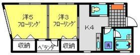 小数賀ビル4階Fの間取り画像