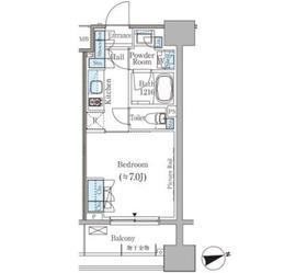 パークアクシス御茶ノ水ヒルトップ6階Fの間取り画像