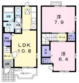 カーサアルドーレ1階Fの間取り画像