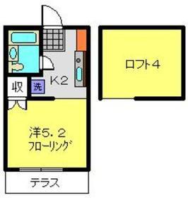 アルコープ笹野台1階Fの間取り画像