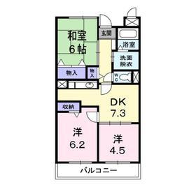グラディオ・AKAYAMA1階Fの間取り画像