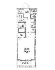 パウロニアバレーテイク2ポートサイド1階Fの間取り画像
