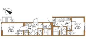 ハートミットクラブハウス横濱洋光台2階Fの間取り画像